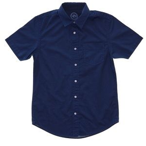 NWT OPB Slim Fit Short Sleeve Button Down Shirt